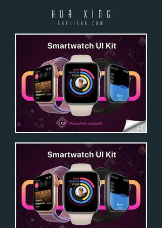 Smartwatch UI Kit智能手表UI界面XD源文件